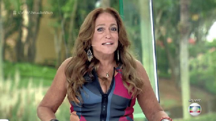 27.mai.2016 - Susana Vieira entrega colegas da Globo