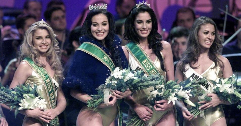Grazi Massfera ficou em terceiro lugar no Miss Brasil 2004, que teve como campeã a gaúcha Fabiane Niclotti