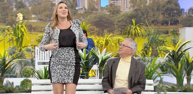 """Sill Esteves estreia no banco da """"Praça"""" com Carlos Alberto - Divulgação/SBT"""