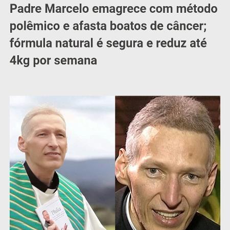Imagens do Padre Marcel usada em pseudo-reportagem de suposto elixir  - Reprodução