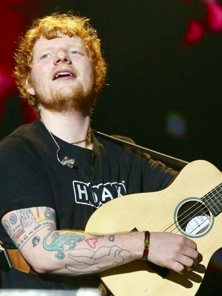 Ed Sheeran durante show no Allianz Parque, em São Paulo - Manuela Scarpa/Brazil News