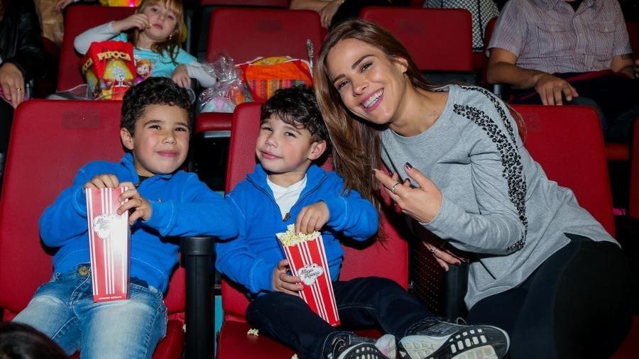 Wanessa Camargo com os filhos, José Marcus e João Francisco - Manuela Scarpa/Brazil News