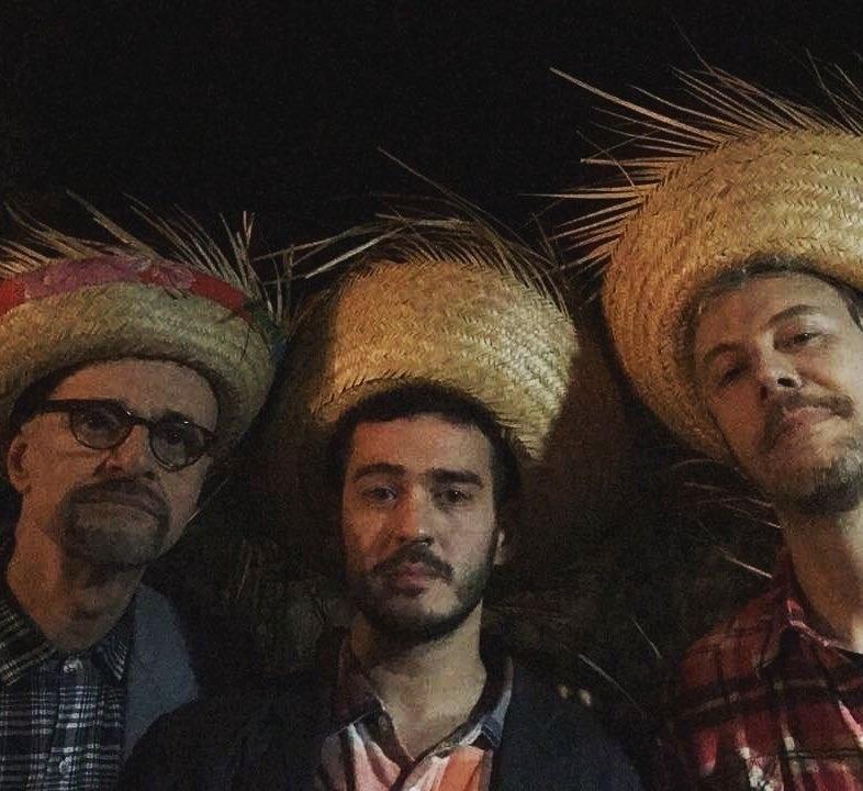 "Marcos Caruso, Marcos Veras e Guilherme Weber na festa julina de ""Pega Pega"""