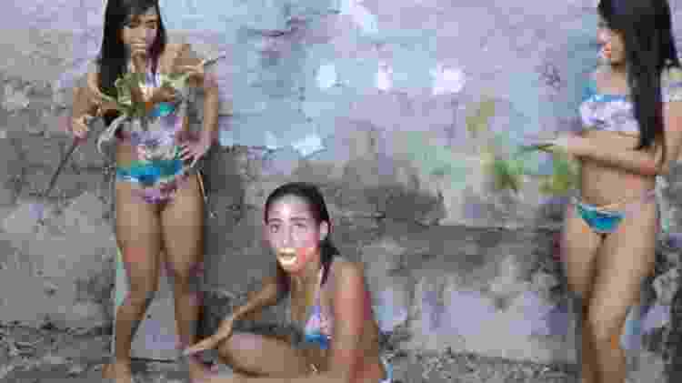 MC Loma e as Gêmeas Lacração ganharam o Carnaval com produção caseira e clima de meme - Reprodução - Reprodução