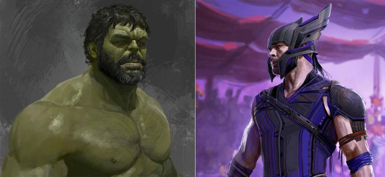 Hulk barbudo e capacete diferente do Thor em artes feitas por Ryan Meinerding - Reprodução/Ryan Meinerding