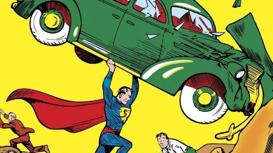 Detalhe da capa do Action Comics #1 - Reprodução