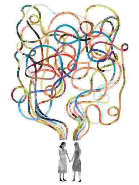 Os pesquisadores puderam prever a força do vínculo social de duas pessoas com base apenas em suas varreduras cerebrais - Keith Negley/The New York Times