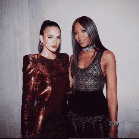 Bruna Marquezine e Naomi Campbell em Cannes, na França - Reprodução/Instagram/brumarquezine