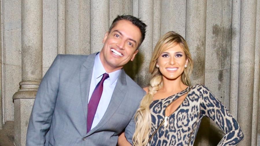 """Os apresentadores do """"Fofocalizando"""", Leo Dias e Lívia Andrade  - Manuela Scarpa/Brazil News"""
