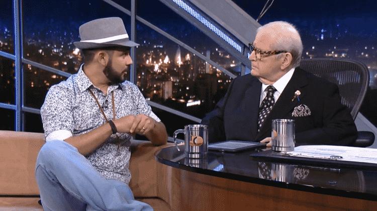 Bráulio Bessa entrevistado no programa de Jô Soares - Reprodução/Globo - Reprodução/Globo