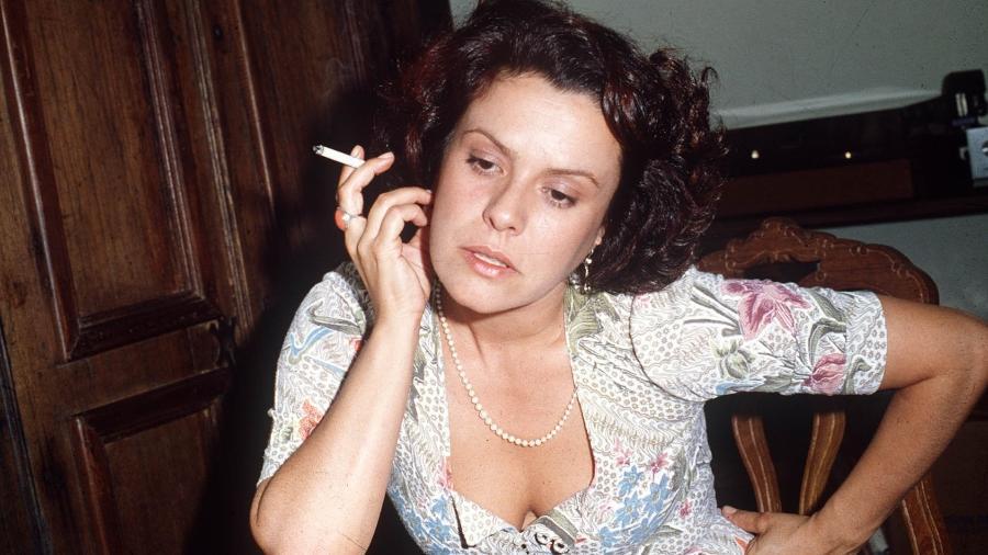 A cantora Elis Regina, que morreu após sofrer uma overdose em 1982 - Folhapress