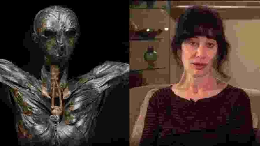 Gillian Genser trabalhou 15 anos sem saber que o material usado na obra era tóxico e a estava envenenando - Gillian Gensen/BBC
