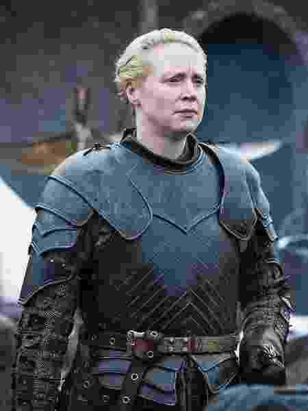 """Brienne (Gwendoline Christie) em cena da oitava temporada de """"Game of Thrones"""" - Divulgação"""