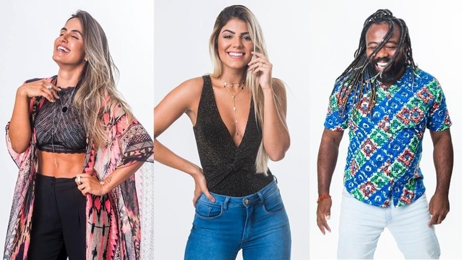 Carolina, Hariany e Rodrigo formam o paredão da semana - Montagem/Globo/Victor Pollak