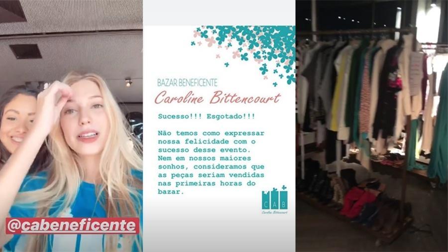 9a09af904 Isabelle Bittencourt, filha de Caroline, comemora sucesso de vendas do bazar  beneficente