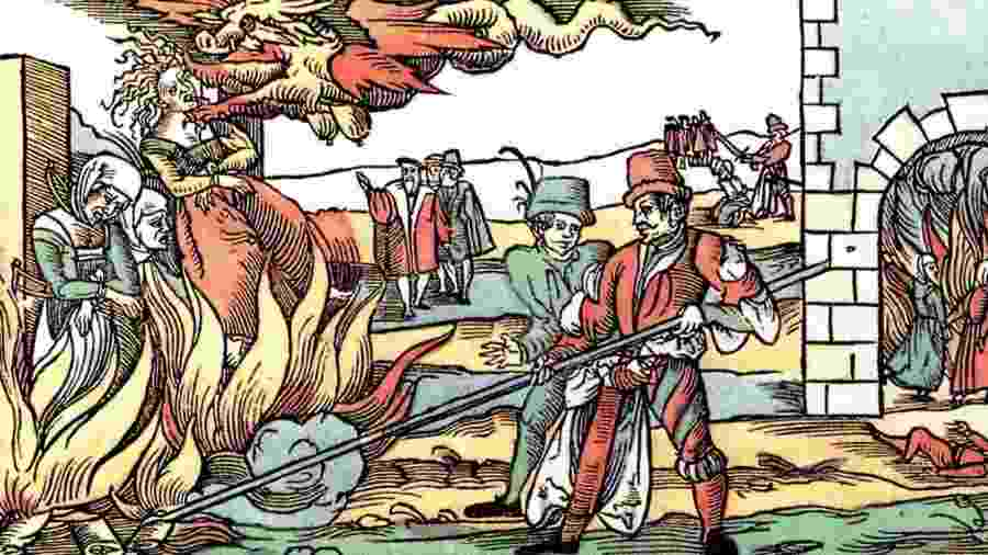 Mulheres eram queimadas sob acusação de bruxaria - Divulgação