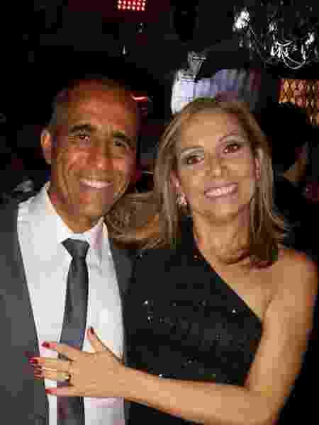 O casal Cláudia Torres e Obertal Xavier - Arquivo pessoal