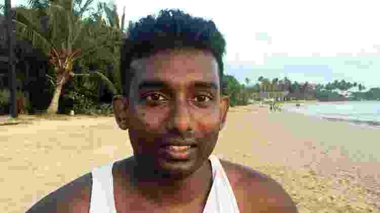 Jilan Rajitha está entre as dezenas que perderam seus empregos no hotel onde trabalhava - BBC