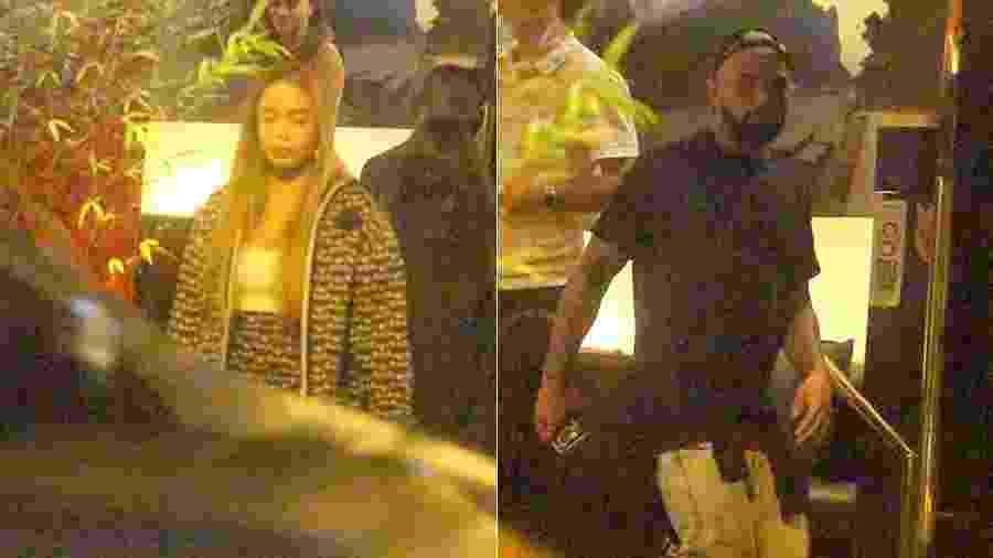 Rafaella e Gabigol foram fotografados saindo do mesmo restaurante no Rio de Janeiro - AgNews