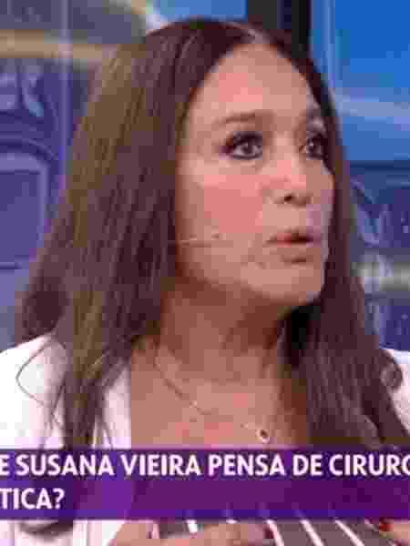 Susana Vieira durante participação no Se Joga, da Globo - Reprodução/TV Globo