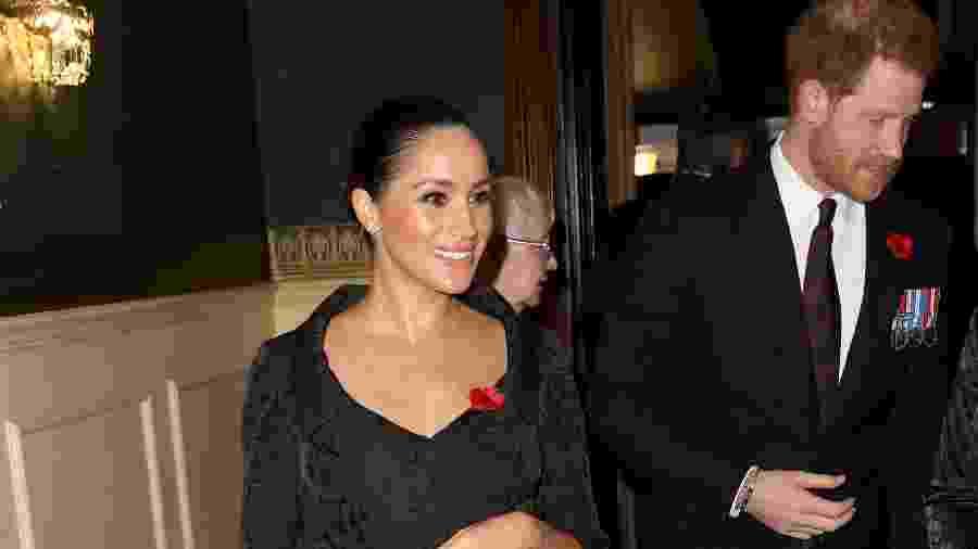 Meghan e Harry durante evento no Royal Albert Hall, em Londres - Getty Images
