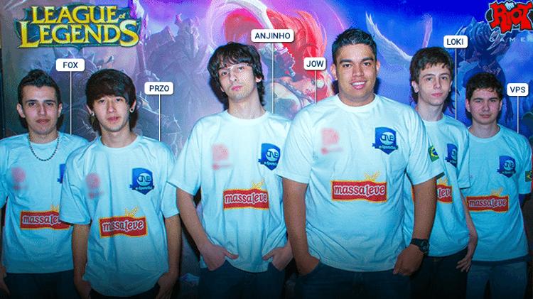 Primeira line-up de League of Legends da CNB, em 2012 - Divulgação/CNB