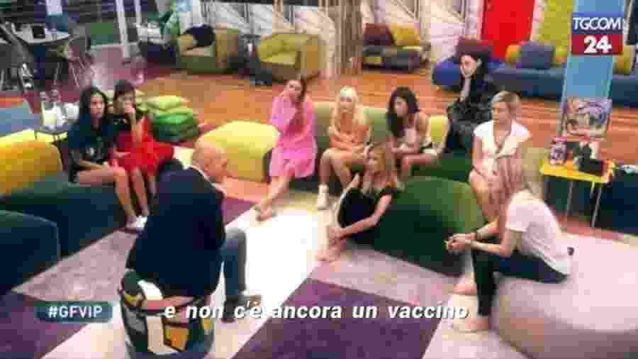 Apresentador do Grande Fratello, o Big Brother da Itália, avisa confinados sobre coronavírus - Reprodução