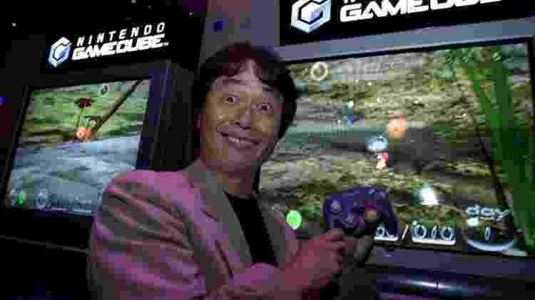 Shigeru Miyamoto Pikmin E3 2001 - Ken Lubas/Los Angeles Times/Getty Images - Ken Lubas/Los Angeles Times/Getty Images