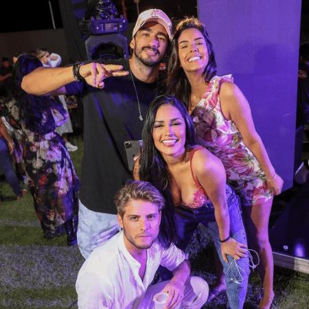 Ex-BBBS Ivy, Guilherme Napolitano, Flay e Daniel Lenhardt curtem noite em Sergipe - Reprodução/Instagram
