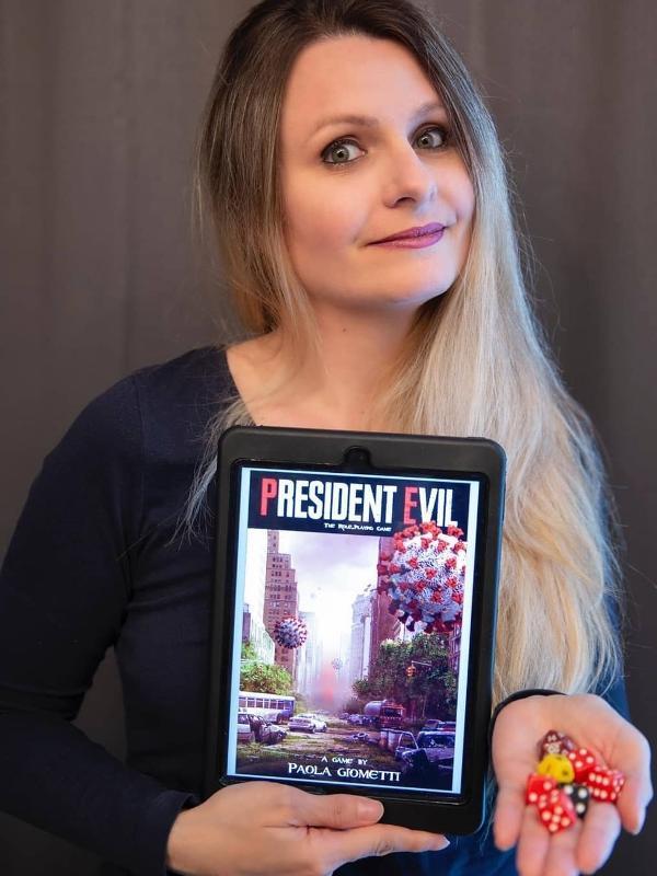Paola Giometi, criadora do RPG 'President Evil'