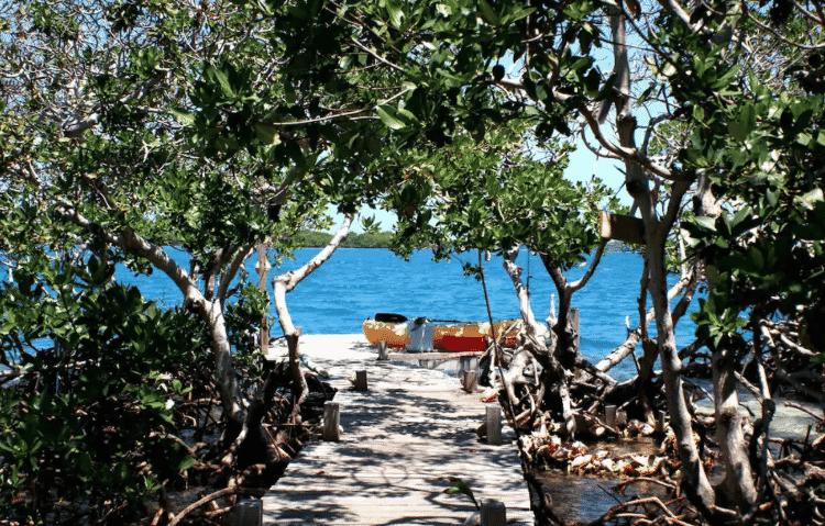 Hideaway Caye, em Belize - Reprodução/Airbnb - Reprodução/Airbnb