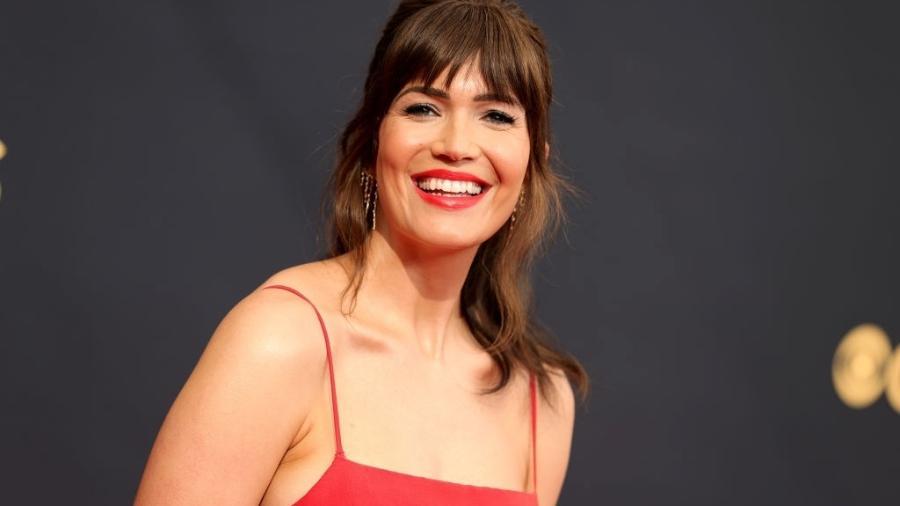 Mandy Moore durante premiação do Emmy 2021 - Getty Images
