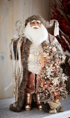 O papai noel, à venda na loja americana de departamentos Neiman Marcus (www.neimanmarcus.com), é pintado à mão e leva cristais no corpo. O valor da peça com 50 cm é US$ 150 ou R$ 505,94 (cotação do dia 9.12.2016)