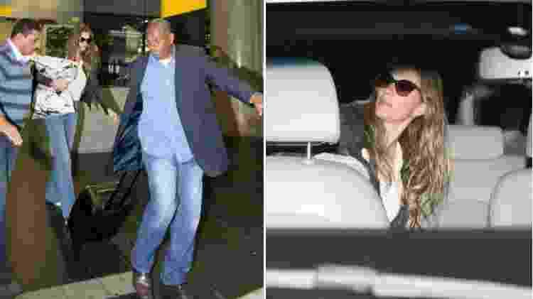 Gisele recebe ajuda de seguranças para entrar no carro ao sair de aeroporto - AgNews - AgNews
