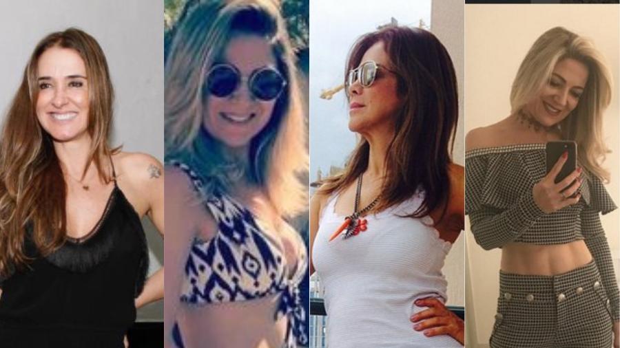 Mães de famosos que são lindas e saradas como Vera Minelli, Karina Lucco, Dulce Souza e Valéria Alencar - Montagem UOL