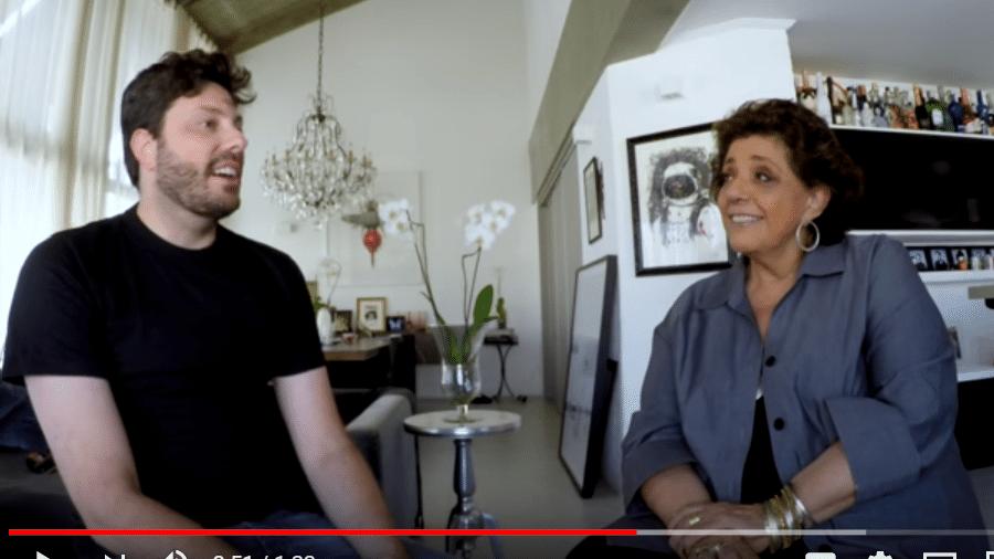 Danilo Gentili é entrevistado por Leda Nagle - Reprodução/YouTube