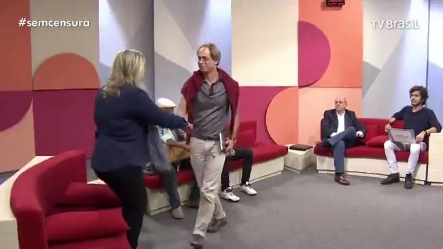 """Pedro Cardoso abandona """"Sem Censura"""" após protestar contra o presidente da EBC, Laerte Rímoli, e a favor de grevistas - Reprodução/TV Brasil"""