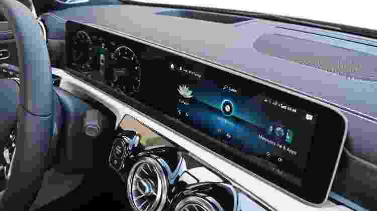 Carro mais acessível da Mercedes vai inaugurar nova geração da era digital dos automóveis da marca: duas telas comandadas por joysticks ao volante, sistemas semi-autônomos de condução e car sharing (compartilhamento de carro) na Europa - Murilo Góes/UOL