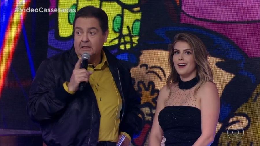 Nathalia Melo e Faustão - Reprodução/TV Globo