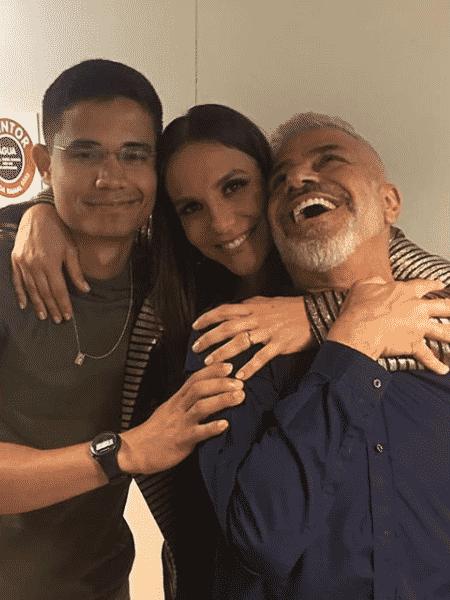 Clebson Teixeira, Ivete Sangalo e Lulu Santos - Reprodução/Instagram