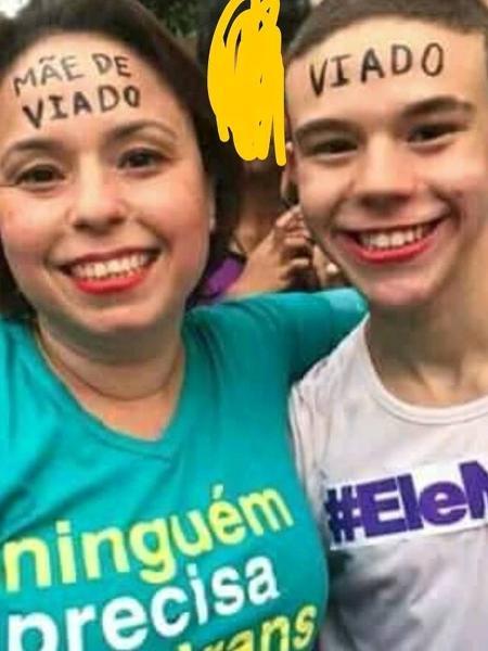 Talita Menezes é mãe de Rafael, de 15 anos - Arquivo Pessoal