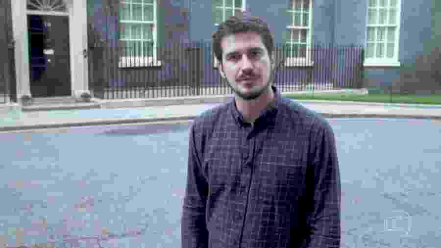 O jornalista Pedro Vedova, correspondente da Globo em Londres - Reprodução/TV Globo
