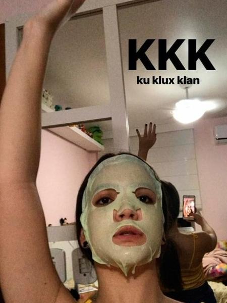 Mel Maia faz post com máscara de beleza e menciona grupo extremista criado nos EUA - Reprodução/Instagram