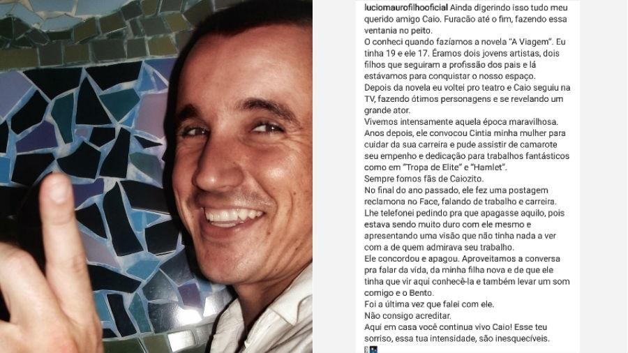 Caio Junqueira é homenageado por Lucio Mauro Filho - Reprodução/Instagram