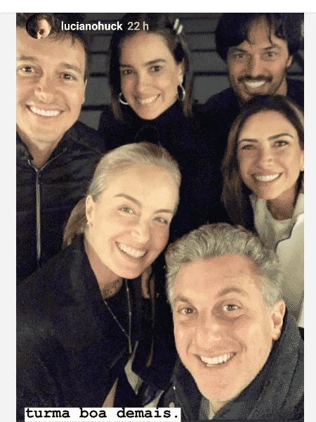 Rodrigo Faro, Vera Viel, Fabio Faria, Patrícia Abravanel, Angélica e Luciano Huck - Reprodução/Instagram