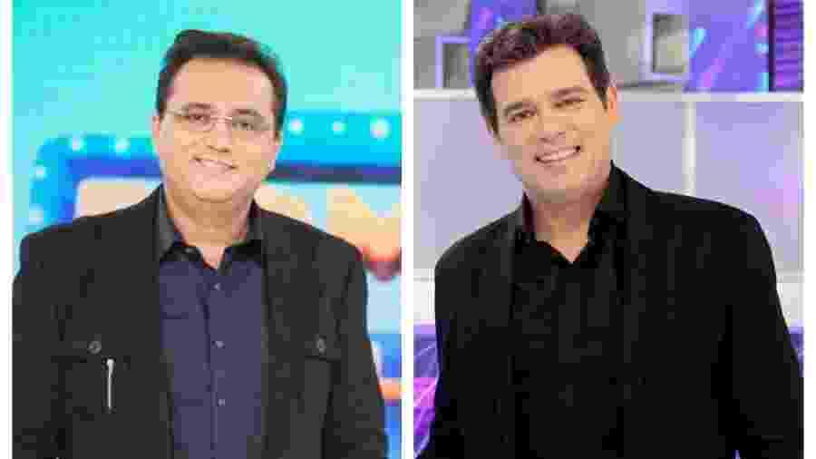 Geraldo Luis e Celso Portiolli disputam audiência aos domingos - Divulgação / Record / SBT