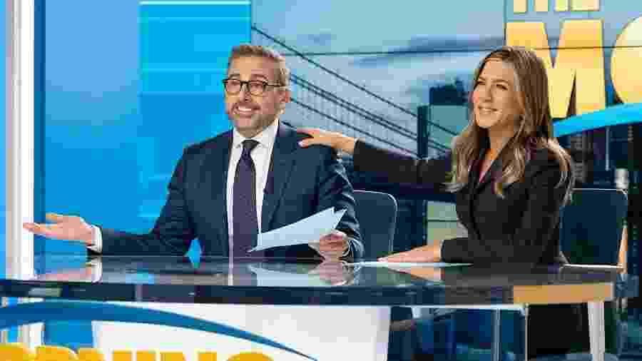 Steve Carell e Jennifer Aniston em The Morning Show  - Divulgação