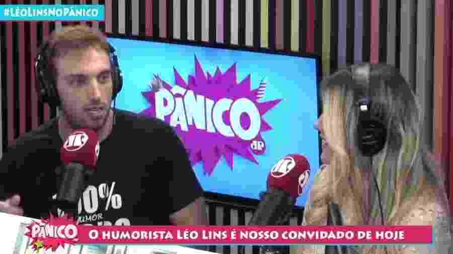 O humorista Léo Lins no programa Pânico, da rádio Jovem Pan - Reprodução/YouTube/Pânico