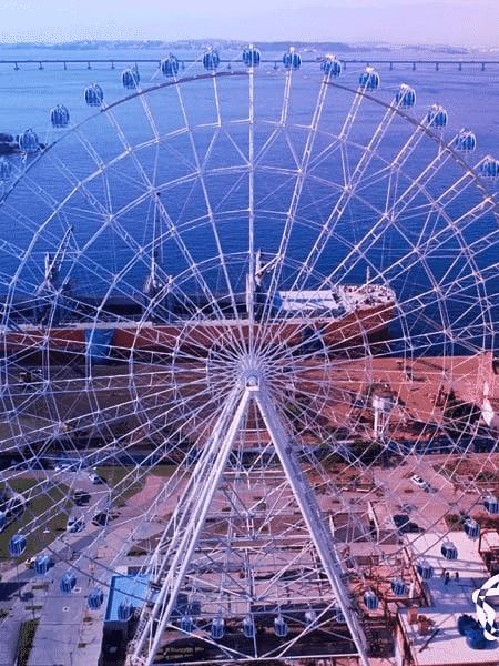 A roda-gigante Rio Star, a maior da América Latina, na zona portuária do Rio de Janeiro - Reprodução/Instagram