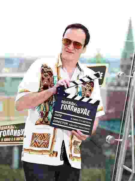 """Quentin Tarantino durante a gravação de """"Era Uma Vez em Hollywood"""" - Instagram/onceinhollywood"""